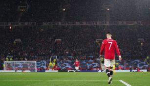 Cristiano Ronaldo en un partido de Champions League