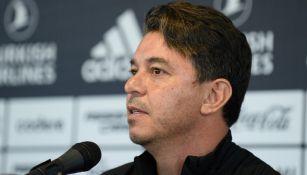Marcelo Gallardo en conferencia de prensa previo al Superclásico