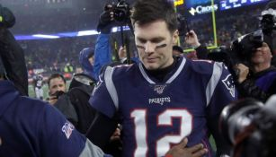 Tom Brady tras un juego de los Patriots