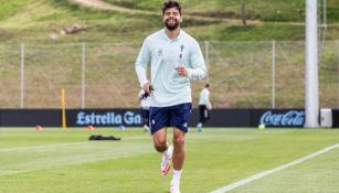 Néstor Araujo en un entrenamiento del Celta de Vigo