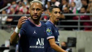 Neymar en acción con el PSG