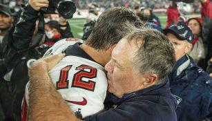 Brady y Belichick tras juego