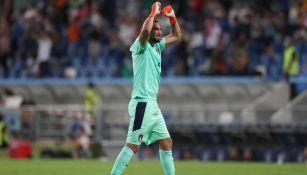Gianluigi Donnarumma celebra con la Selección de Italia