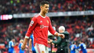 Cristiano Ronaldo en acción con Manchester United