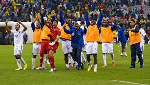 La selección hondureña en el histórico 'Aztecazo'