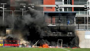 El incendio en el estadio de Andorra