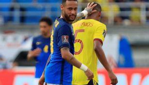 Neymar en acción ante Colombia