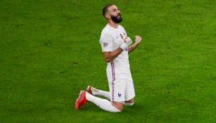 Benzema tras el triunfo de Francia sobre España