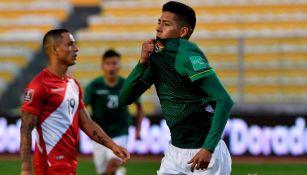 Ramiro Vaca en festejo con Bolivia