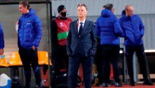 Louis van Gaal durante un partido con Países Bajos