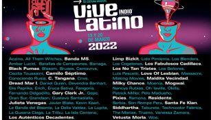 Cartelera del Vive Latino 2022