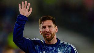 Lionel Messi tras un partido de Argenitna