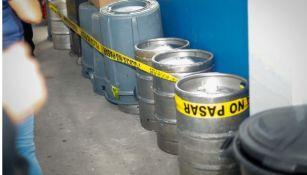 Barriles de cerveza asegurados