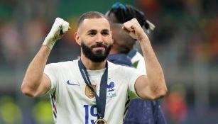 Karim Benzema celebra con Francia en la Nations League
