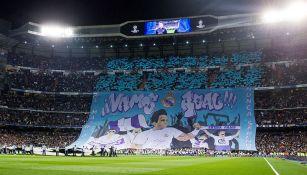 Manta gigante del Real Madrid con Rafael Nadal