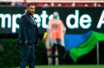 Antonio Mohamed en un partido de Monterrey