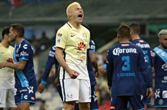 Pablo Aguilar muestra su enojo tras el encuentro contra Puebla