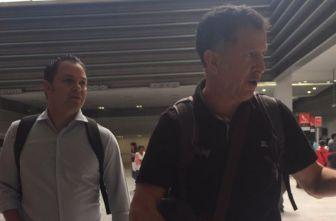 Osorio y Baños, en el aeropuerto internacional de la CDMX