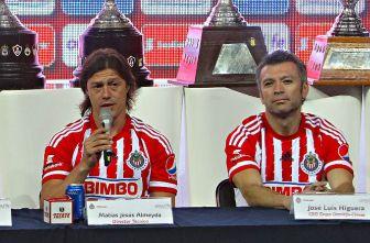 Matías Almeyda y José Luis Higuera, en conferencia