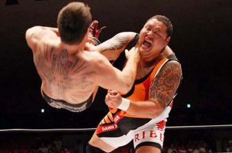 Akebono (der) durante una lucha