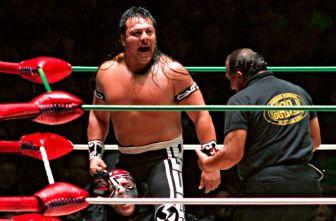Último Guerrero durante una lucha en Liga Elite