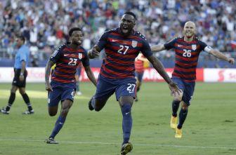 Altidore festeja gol contra Jamaica