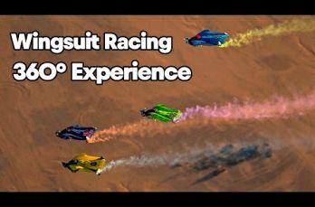 Embedded thumbnail for Así se ve una carrera de wingsuit en 360° a máxima velocidad