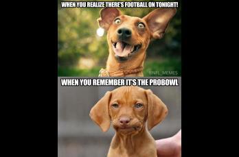 Cuando te das cuenta que hay NFL... pero sólo es el Pro Bowl