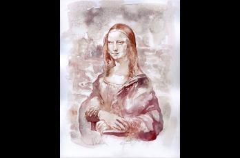 La artista llamada Winorelle Vinoreli decidió crear obras de arte usando vino