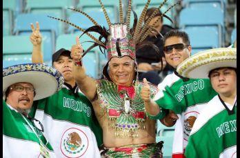 Aficionados del Tri se dieron cita en el Estadio Olímpico de Sochi