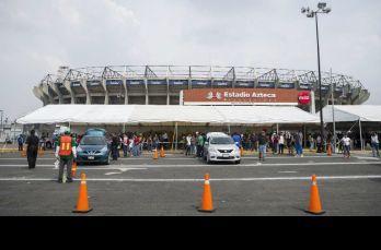 Así luce el Estadio Azteca como centro de acopio
