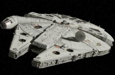 Imagen del Halcón Milenario en la saga Star Wars