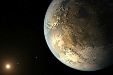 Imagen de la NASA de un planeta habitable