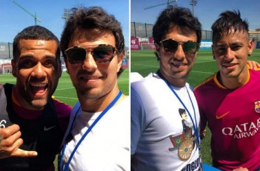 Checo Pérez presume fotos con Alves y Neymar