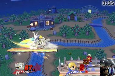 Una partida de Super Smash Bros en la que participa SmashFactor Hyuga