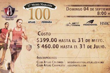 Imagen publicitaria del Medio Maratón de los Rojinegros