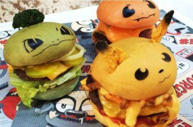 Hamburguesas inspiradas en Pikachu, Bulbasaur y Charmander