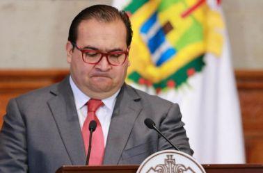 Duarte durante un evento del gobierno de Veracruz