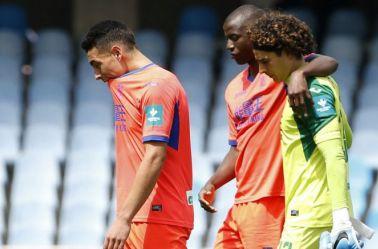 Ponce, Ramos y Ochoa, cabizbajos tras perder contra la Real Sociedad