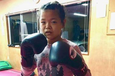 Momo Shimizu, previo a su debut en MMA
