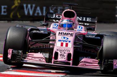 Checo Pérez, durante una curva en el GP de Mónaco