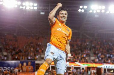 El Cubo celebra un gol en un partido de la MLS