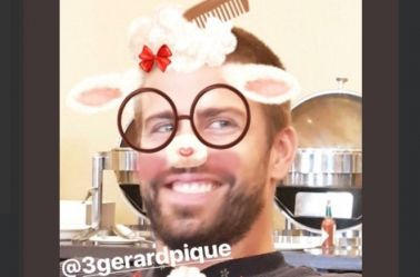 Piqué, con un filtro de Instagram Stories