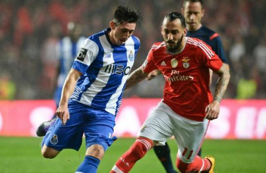 Herrera, durante el partido frente al Benfica