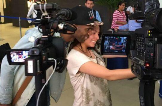 Domínguez se toma una foto una fan