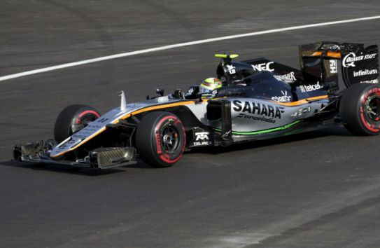 Checo, durante el GP de Europa
