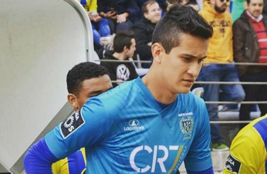 Raúl Gudiño, durante un partido con el Madeira