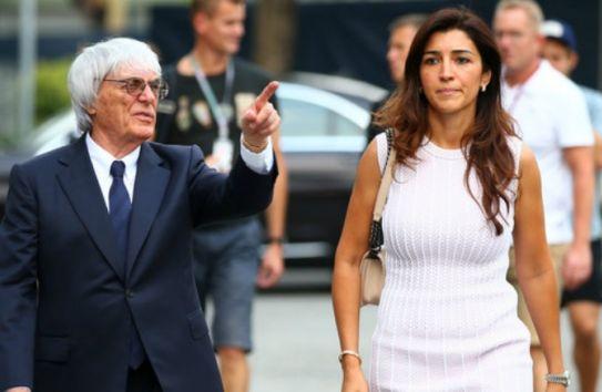 Ecclestone junto a Fabiana su esposa