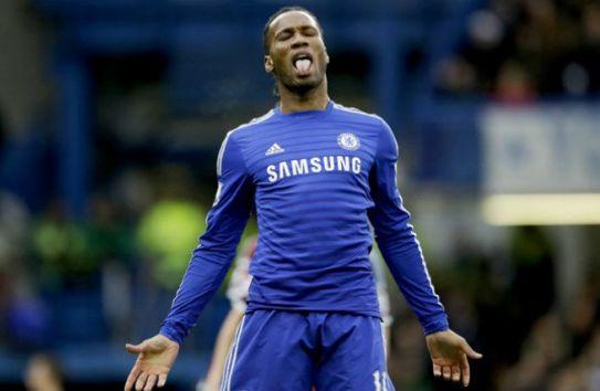 Didier Drogba durante un partido del Chelsea