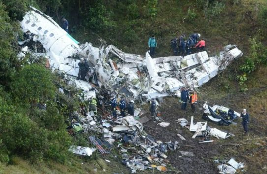 Avión del Chape accidentado